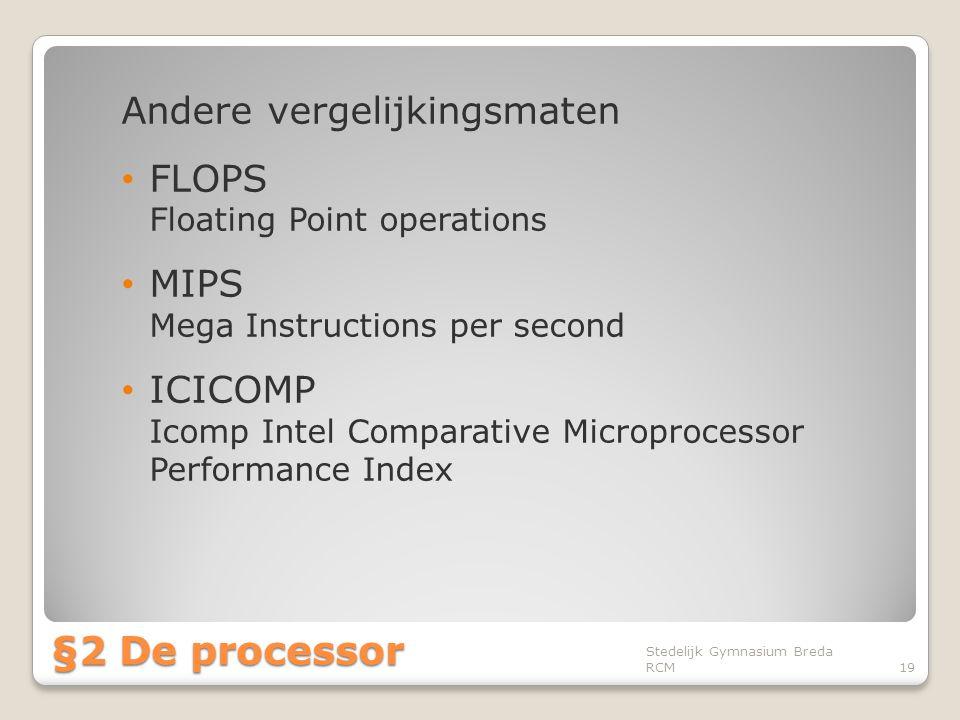 §2 De processor Andere vergelijkingsmaten