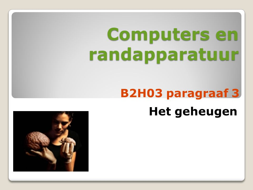 Computers en randapparatuur