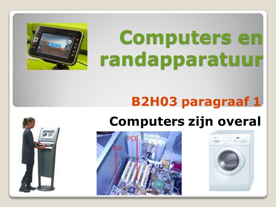 Computers en randapparatuur