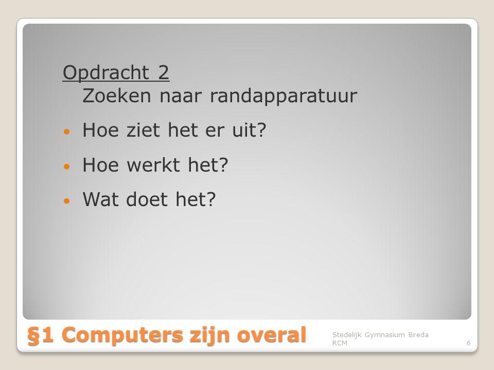 §1 Computers zijn overal