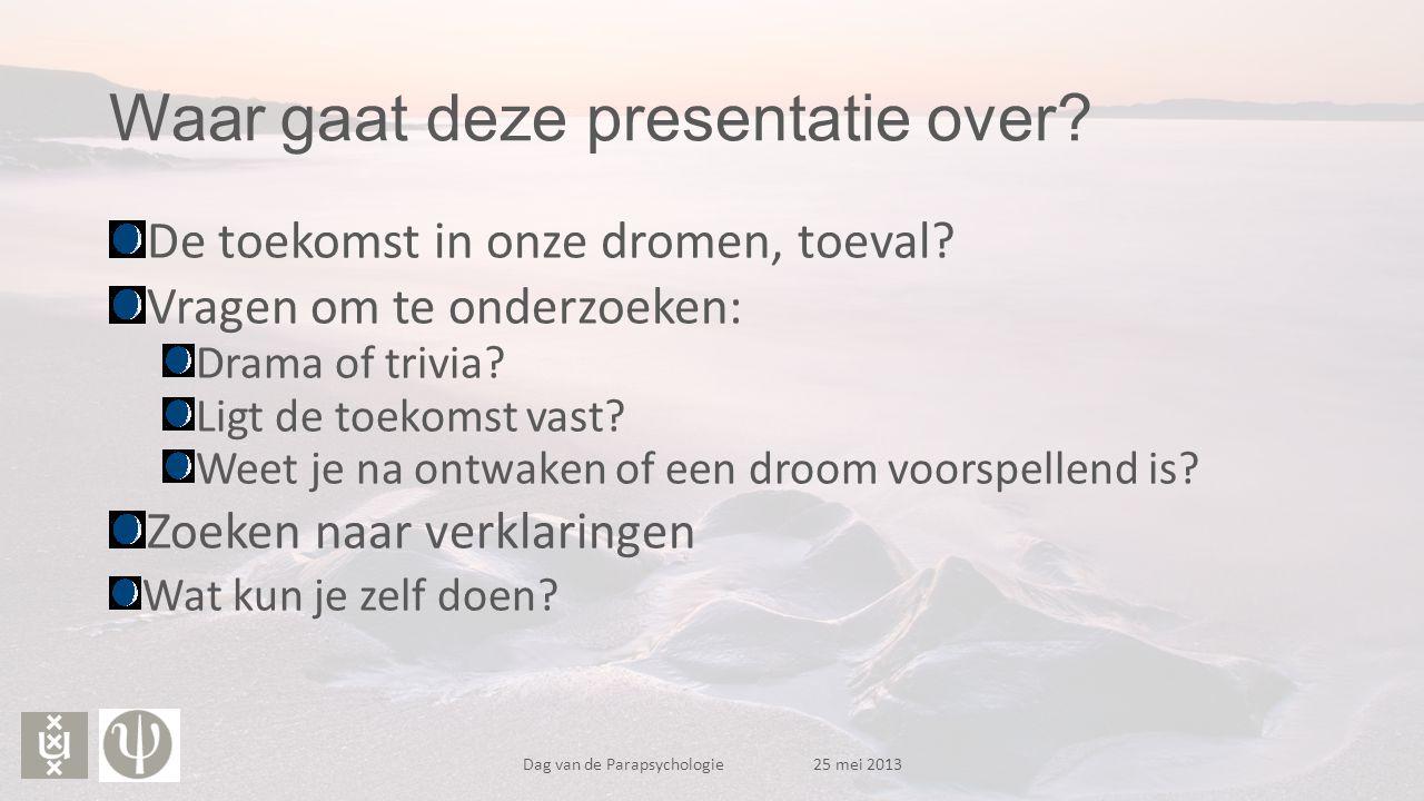 Waar gaat deze presentatie over