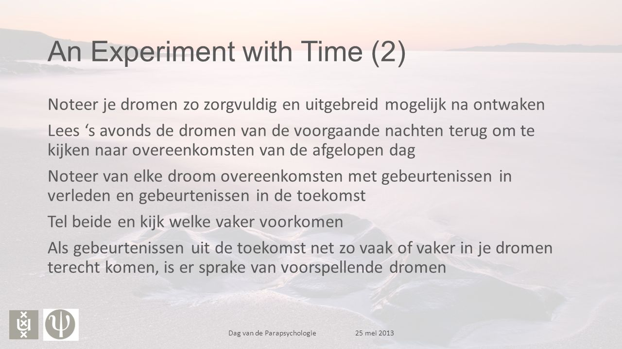 An Experiment with Time (2)