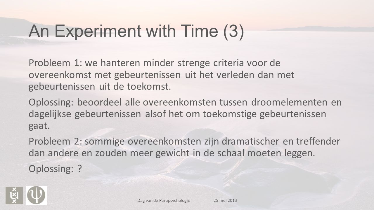 An Experiment with Time (3)