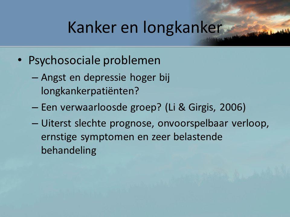 Kanker en longkanker Psychosociale problemen