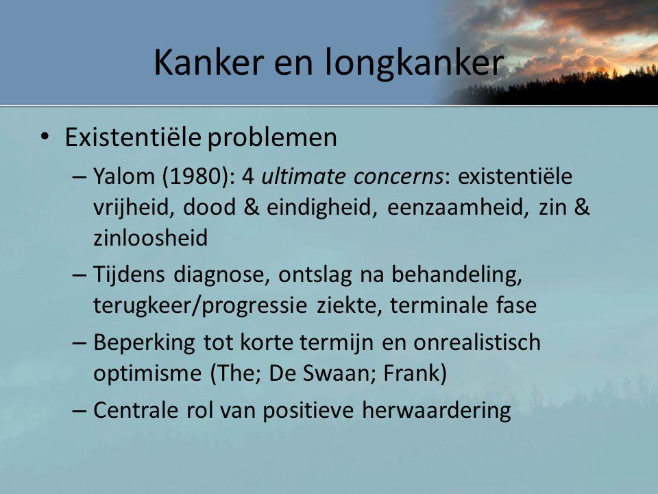 Kanker en longkanker Existentiële problemen
