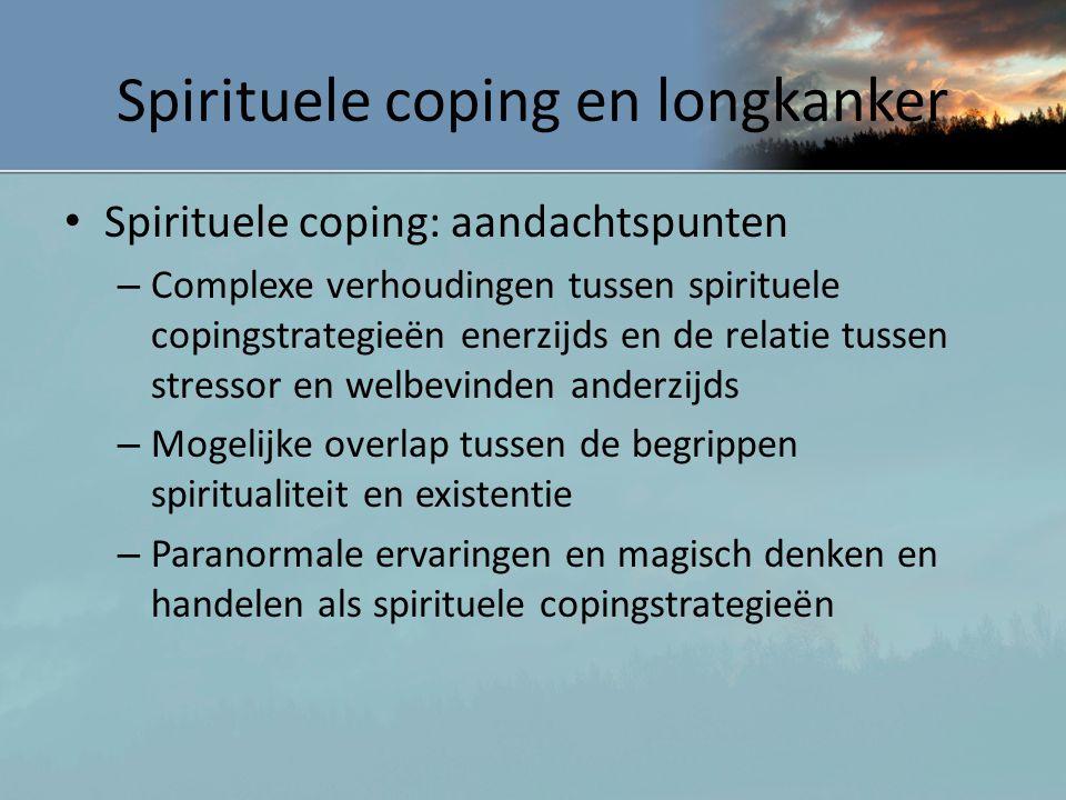 Spirituele coping en longkanker