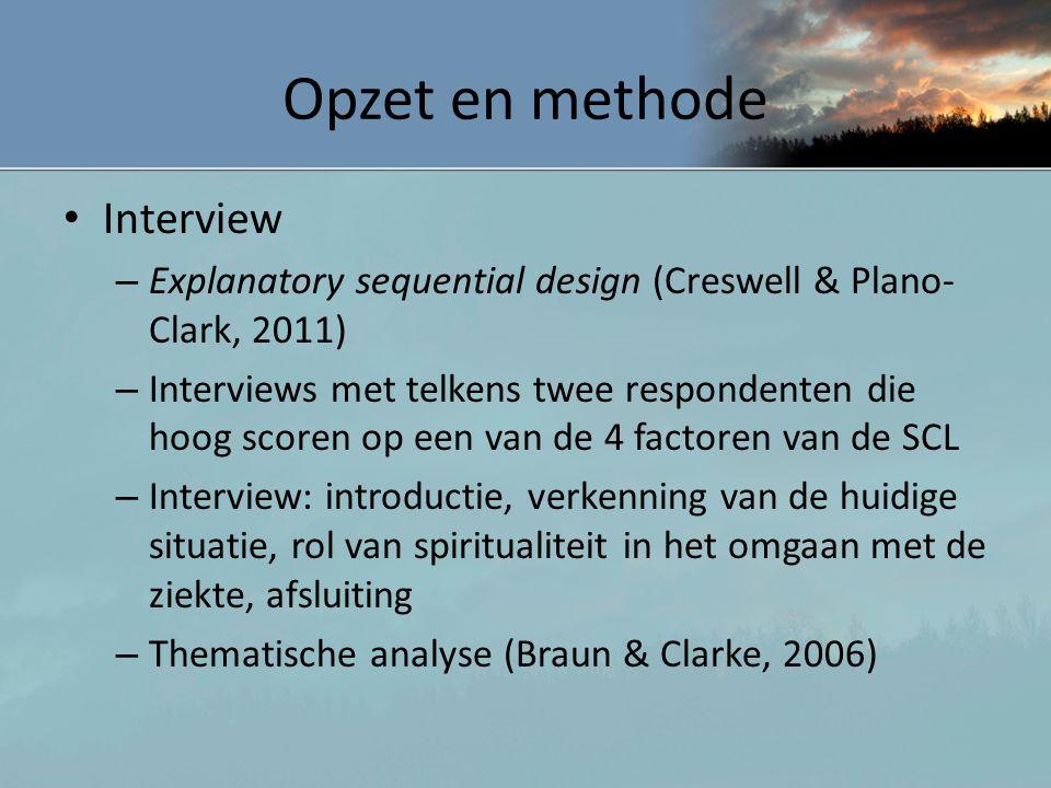 Opzet en methode Interview