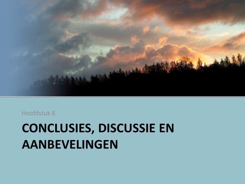 Conclusies, discussie en aanbevelingen