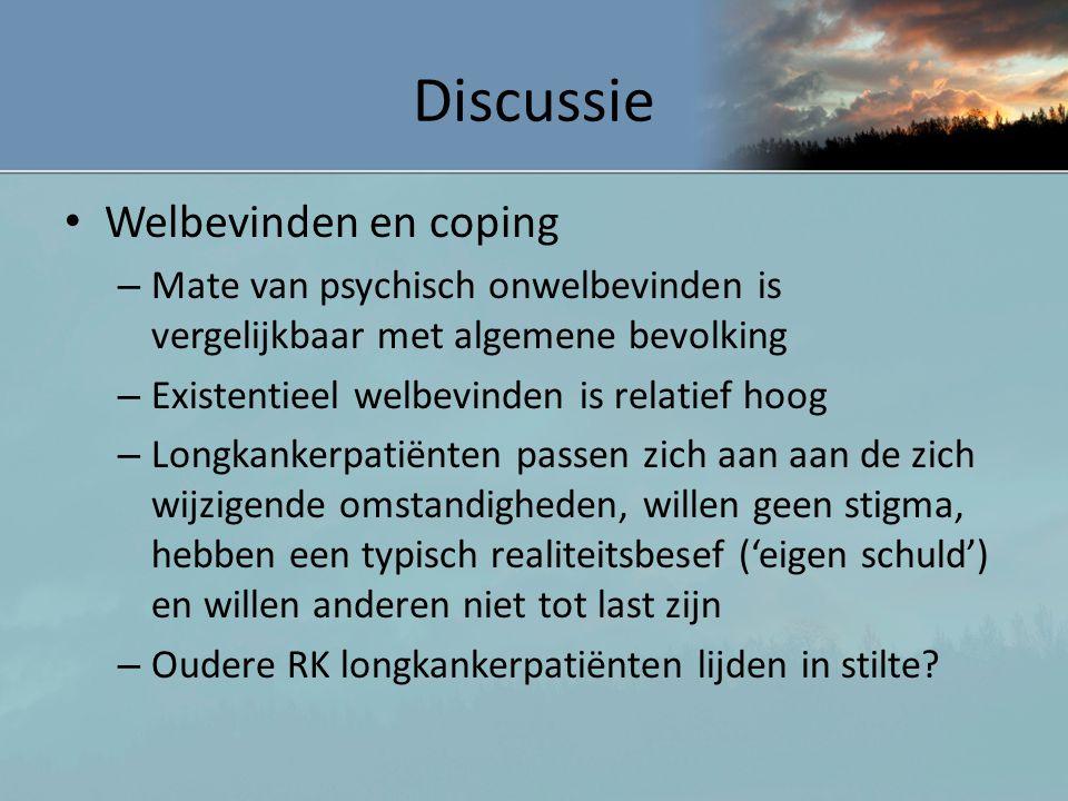 Discussie Welbevinden en coping