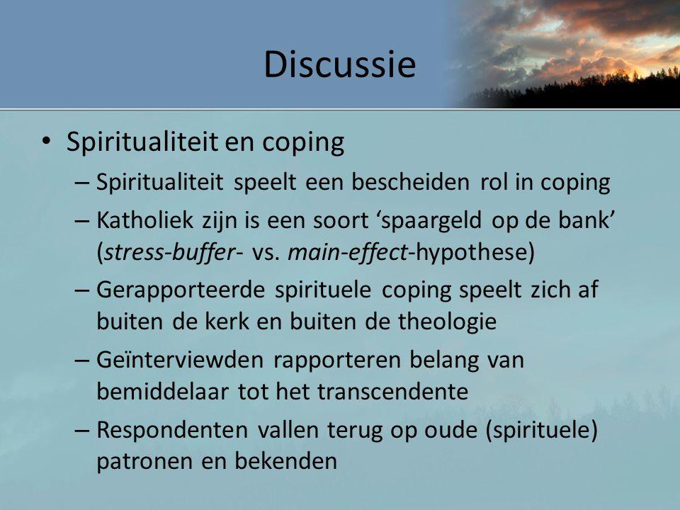 Discussie Spiritualiteit en coping
