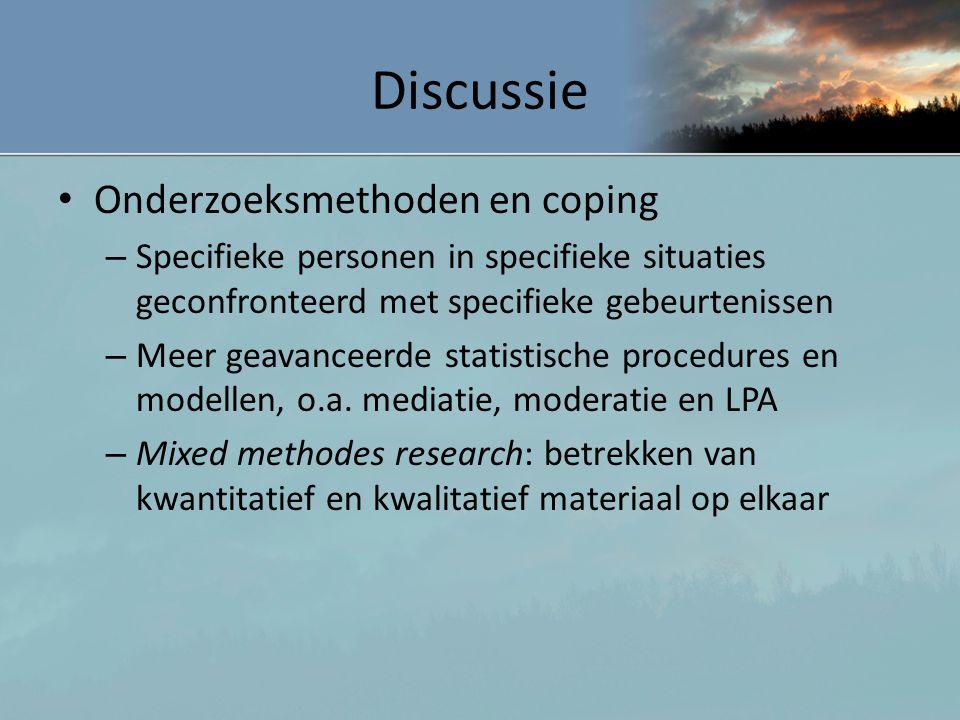 Discussie Onderzoeksmethoden en coping
