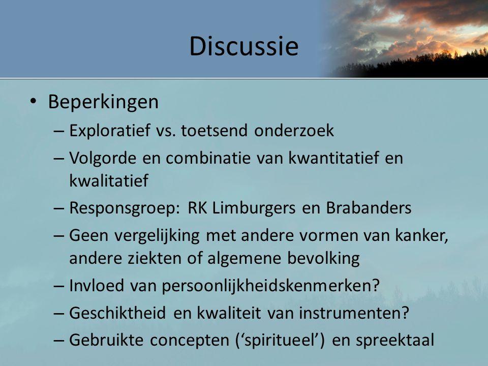 Discussie Beperkingen Exploratief vs. toetsend onderzoek
