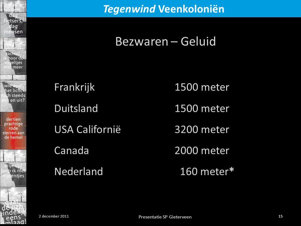 Bezwaren – Geluid Frankrijk 1500 meter Duitsland 1500 meter