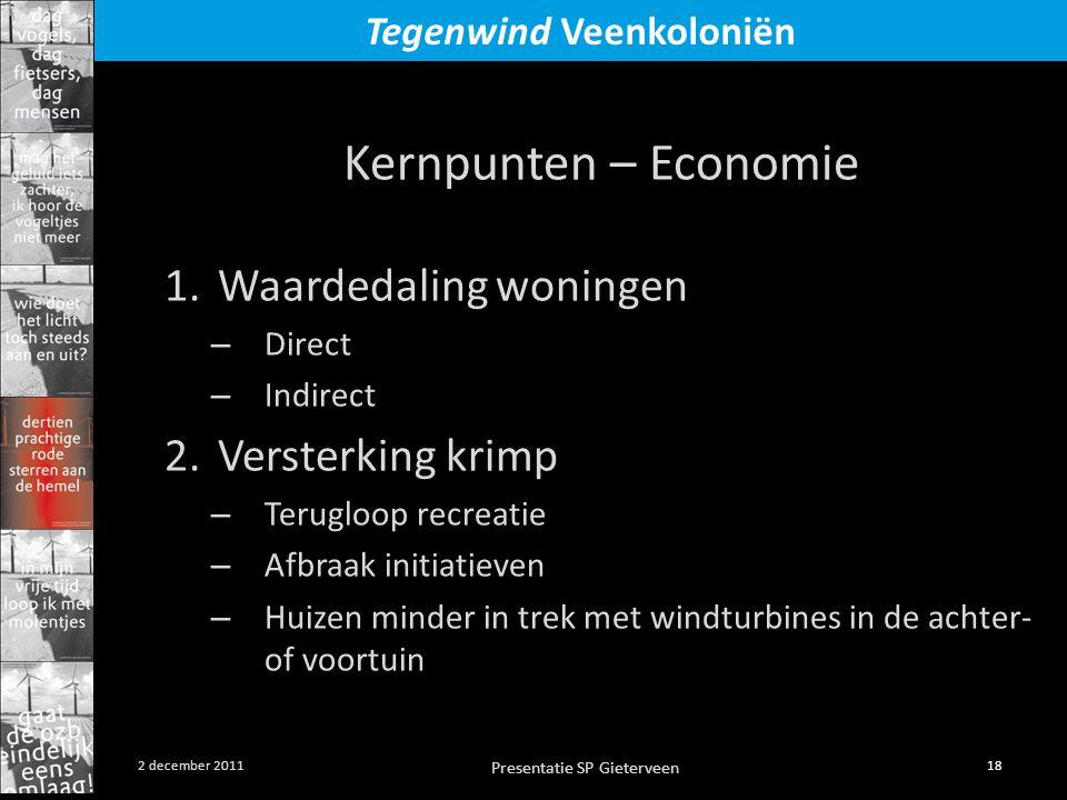 Kernpunten – Economie Waardedaling woningen Versterking krimp Direct