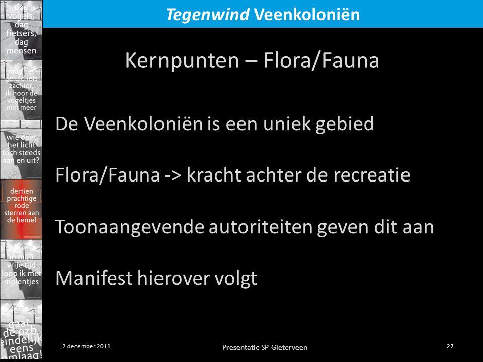 Kernpunten – Flora/Fauna