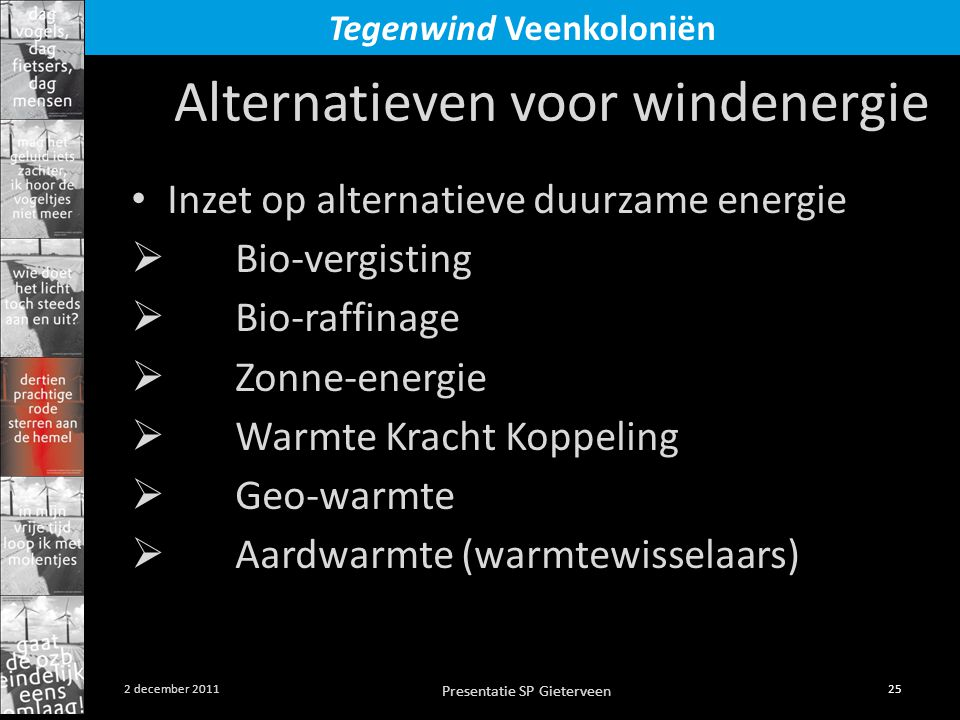 Alternatieven voor windenergie