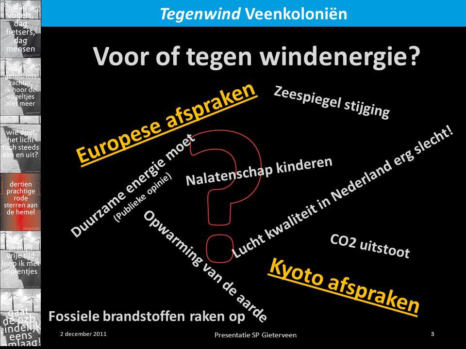 Voor of tegen windenergie