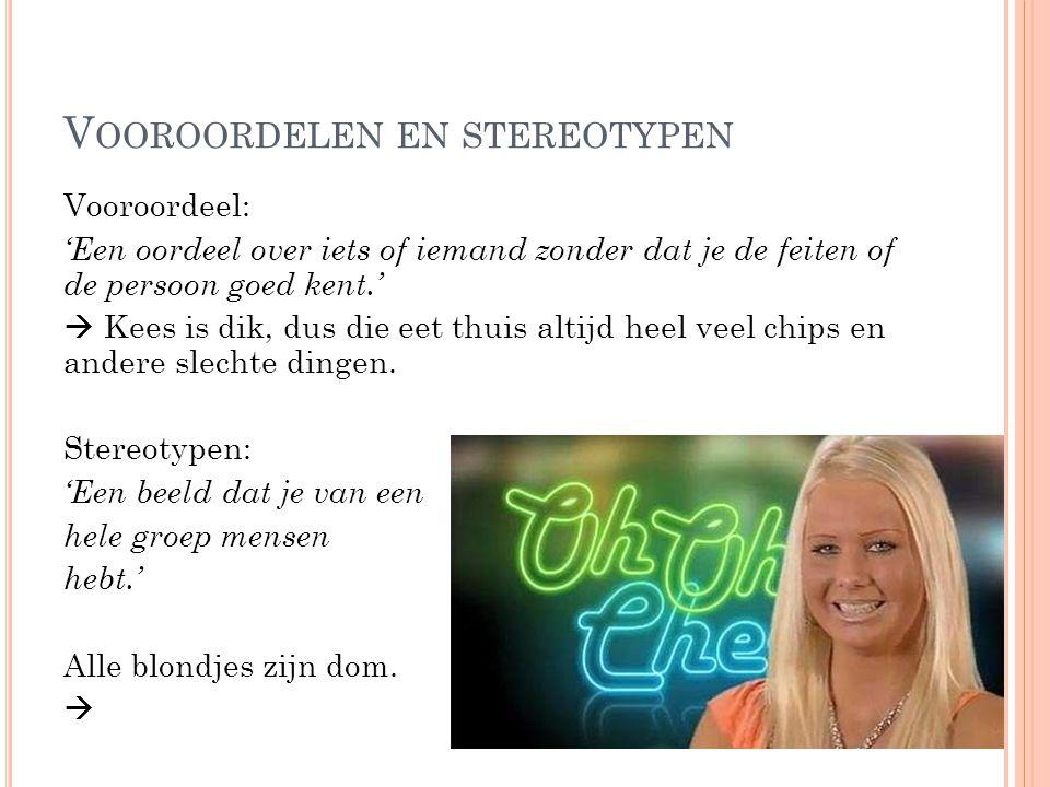 Vooroordelen en stereotypen