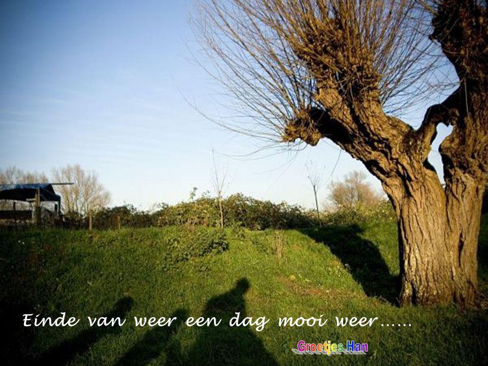 Einde van weer een dag mooi weer ……