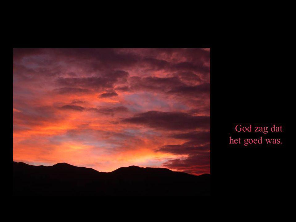 God zag dat het goed was.