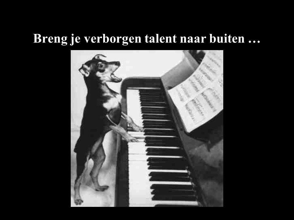 Breng je verborgen talent naar buiten …
