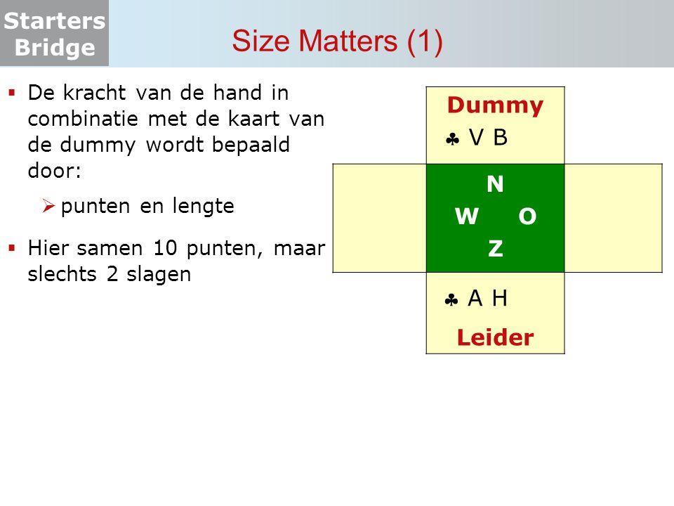 Size Matters (1) Dummy N W O Z  V B Leider  A H