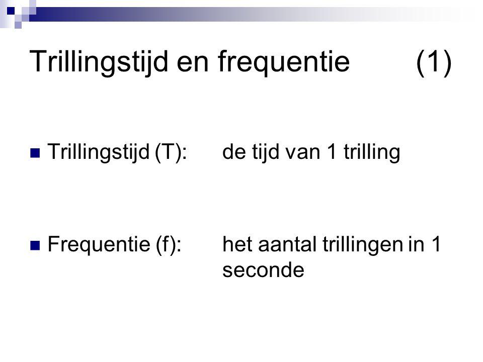 Trillingstijd en frequentie (1)
