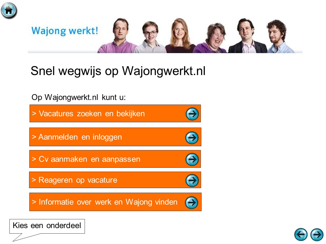 Snel wegwijs op Wajongwerkt.nl