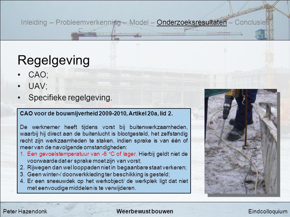 Regelgeving CAO; UAV; Specifieke regelgeving.