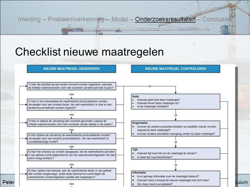 Checklist nieuwe maatregelen