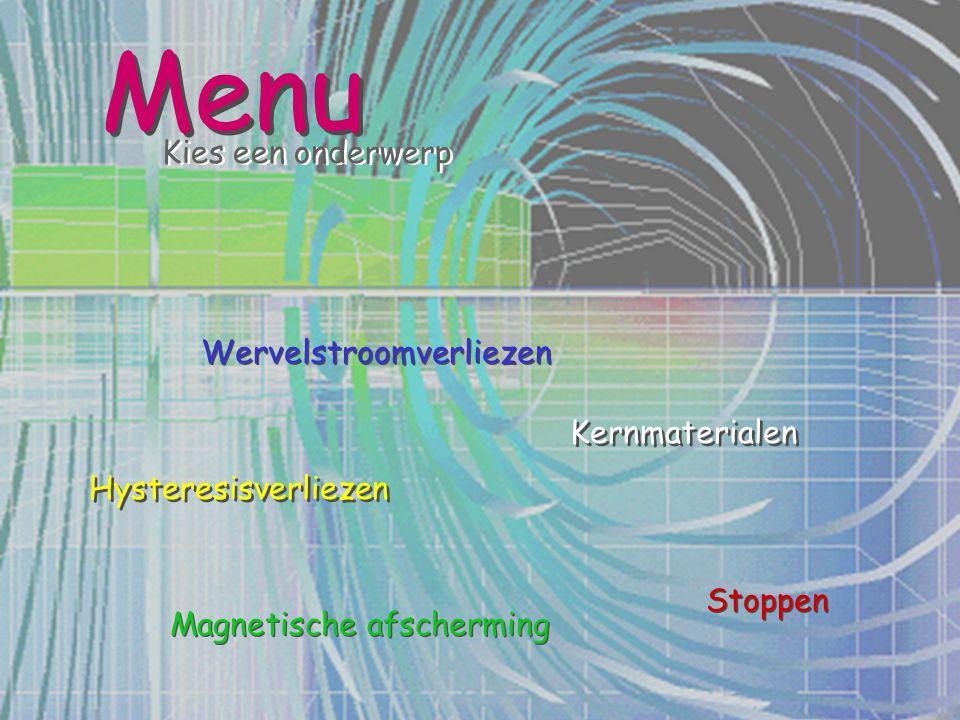 Menu Kies een onderwerp Wervelstroomverliezen Kernmaterialen