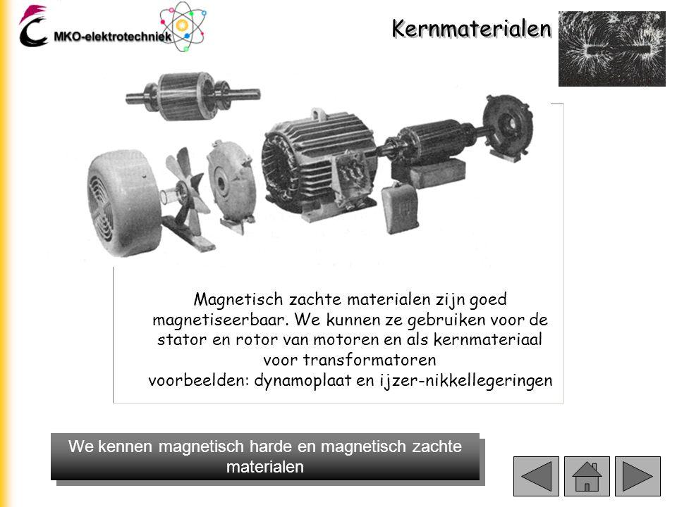 We kennen magnetisch harde en magnetisch zachte materialen
