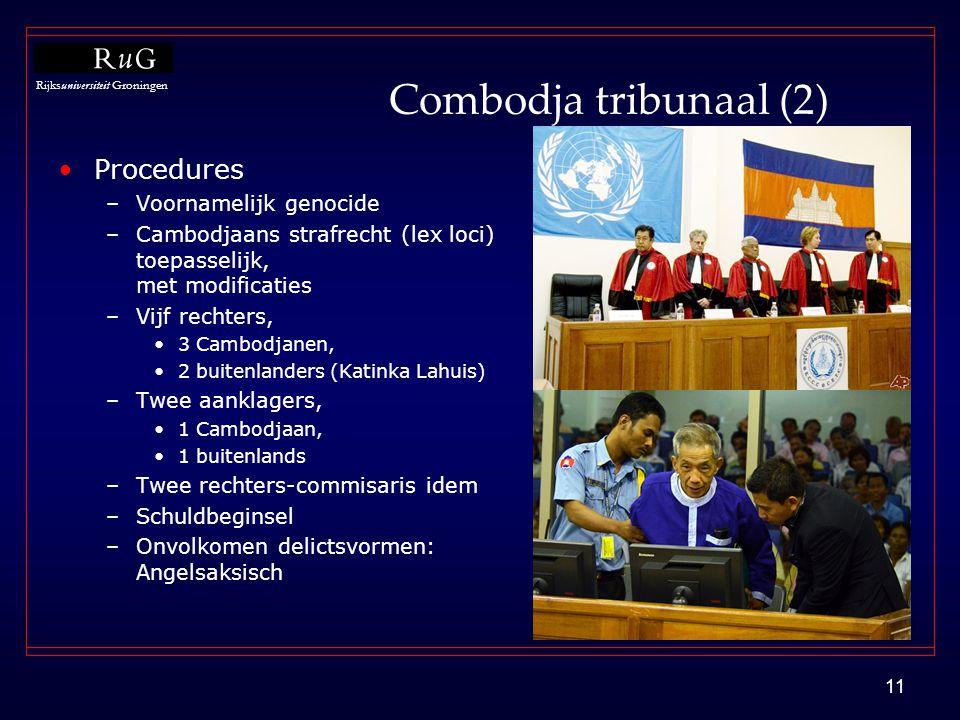 Combodja tribunaal (2) Procedures Voornamelijk genocide