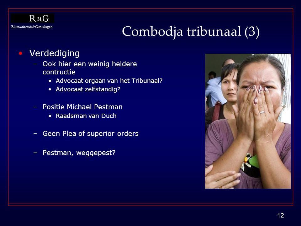 Combodja tribunaal (3) Verdediging