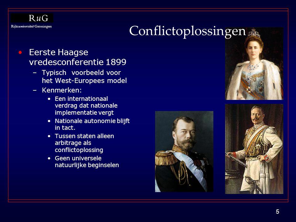 Conflictoplossingen Eerste Haagse vredesconferentie 1899