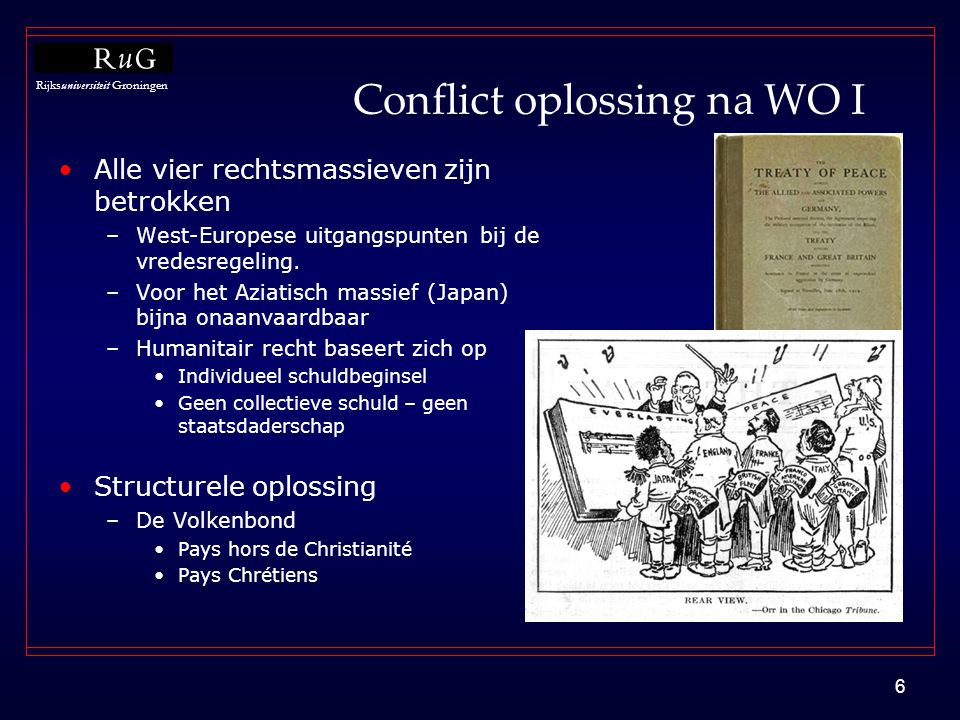 Conflict oplossing na WO I