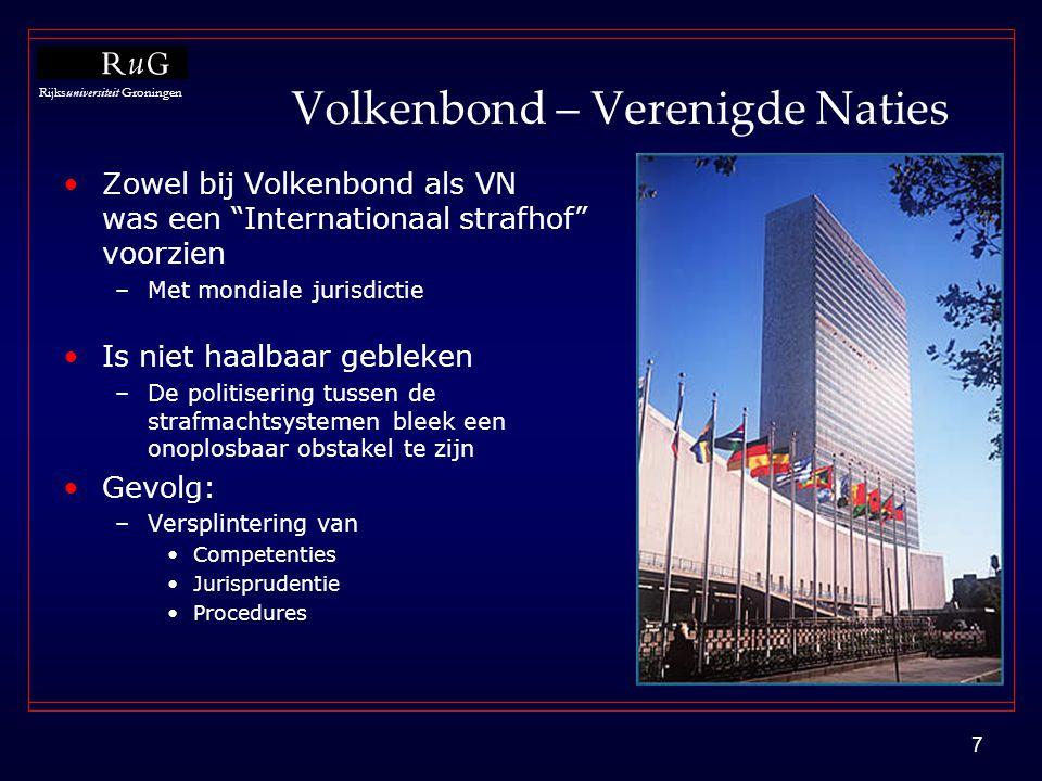 Volkenbond – Verenigde Naties