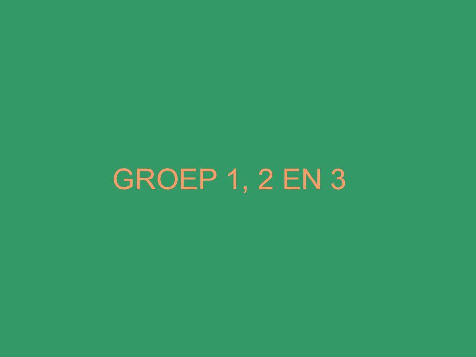 GROEP 1, 2 EN 3