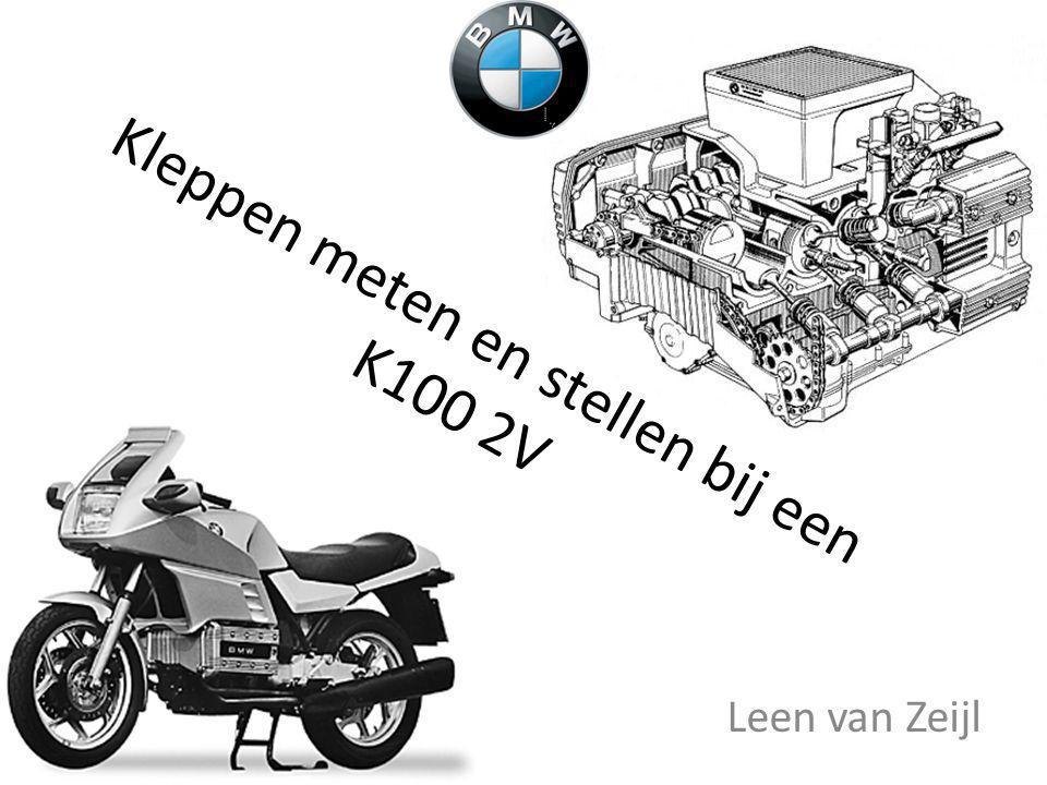 Kleppen meten en stellen bij een K100 2V