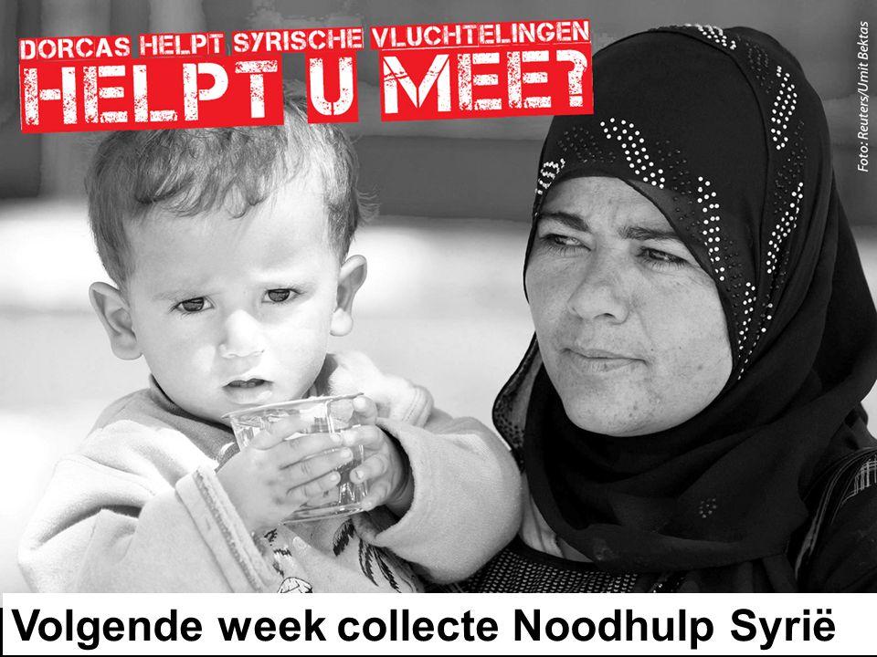 Volgende week collecte Noodhulp Syrië