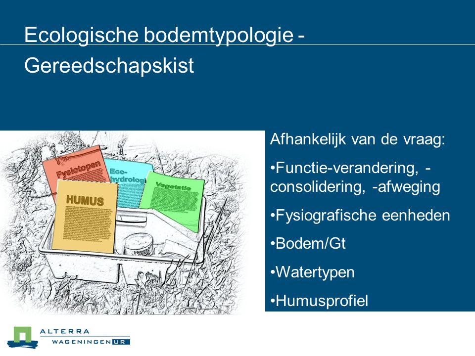 Ecologische bodemtypologie - Gereedschapskist