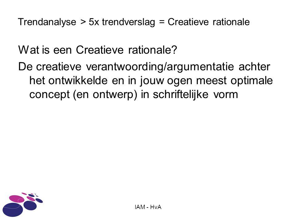 Trendanalyse > 5x trendverslag = Creatieve rationale