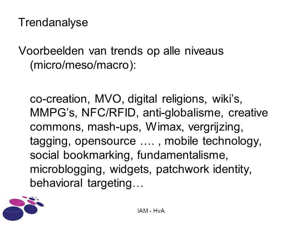 Voorbeelden van trends op alle niveaus (micro/meso/macro):