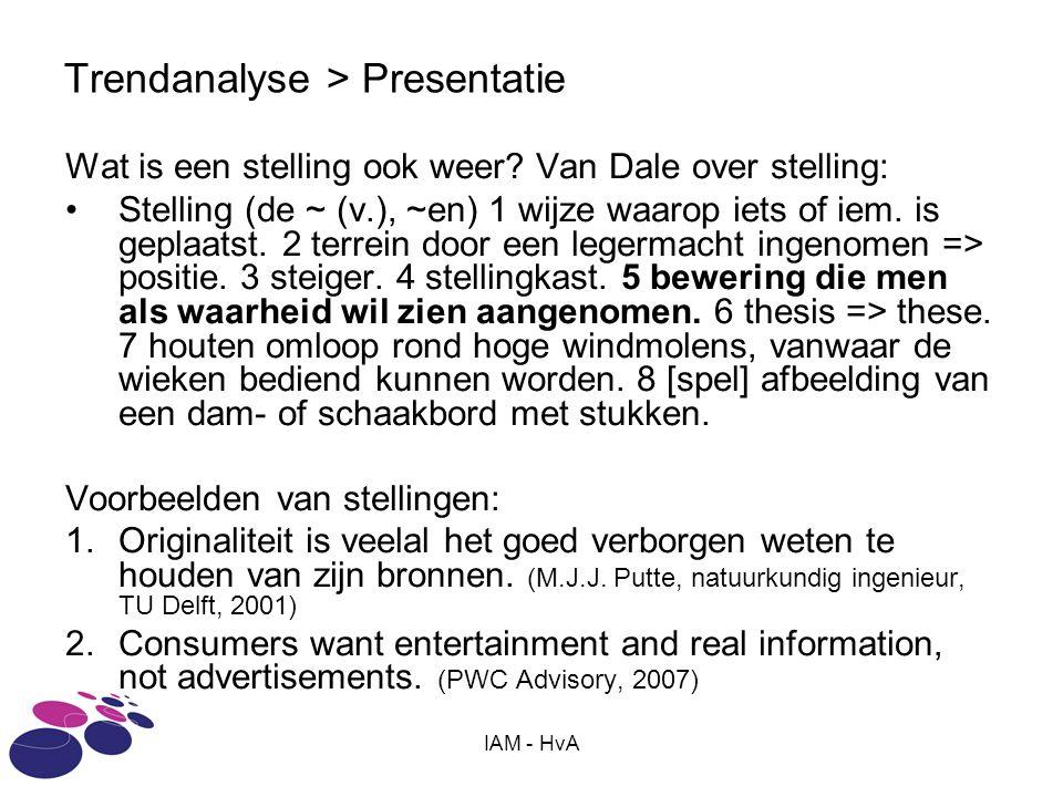 Trendanalyse > Presentatie