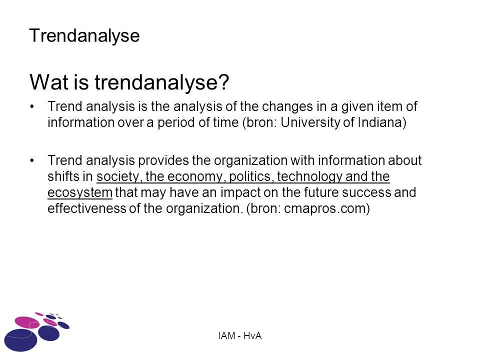 Wat is trendanalyse Trendanalyse