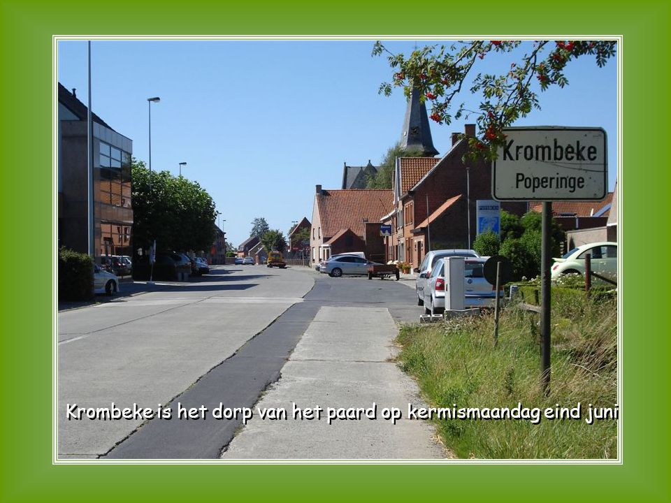 Krombeke is het dorp van het paard op kermismaandag eind juni