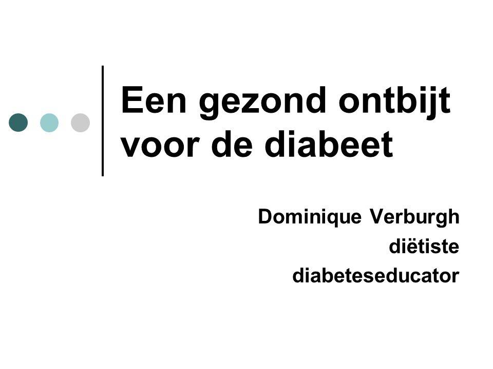 Een gezond ontbijt voor de diabeet