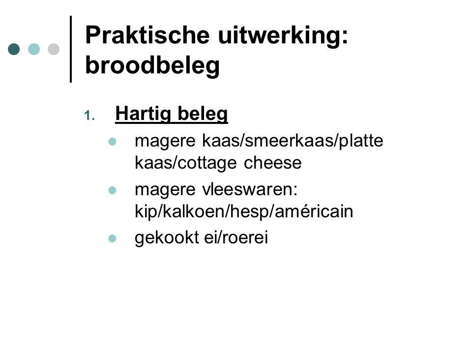 Praktische uitwerking: broodbeleg