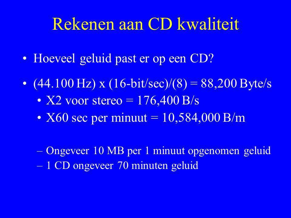 Rekenen aan CD kwaliteit