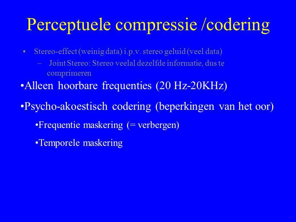 Perceptuele compressie /codering